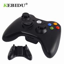 Kebidu 2.4GHz bezprzewodowy kontroler z Bluetooth Gamepad dla konsoli Xbox 360 3 w 1 Joystick do gier PC Controle dla XBOX360 Game Cont