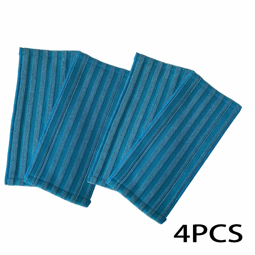4pcs/lot Replacement mop pads for Philips FC8063/01 Washable Microfiber Pads for FC6400 FC6401 FC6402 wipe mop 5 replacement microfiber pads cleaning pads for h2o x5 steam mop