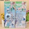 Мода СВЕТОДИОДНЫЙ цифровой 20 проектор смотреть мультфильм Снежная Королева Принцесса Эльза Анна дети наручные часы девушка подарочные игрушки для маленьких детей