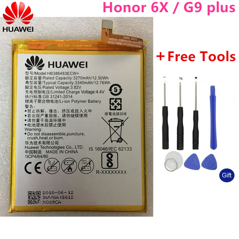 Maimang 5 3340mah Replacement Batteries Free Tools Quell Summer Thirst G9 Plus Hua Wei Original Phone Battery Hb386483ecw For Huawei Honor 6x