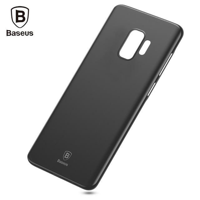 new product 4586e dccb9 US $4.56 |Baseus Wing Case 0.5mm Slim Plastic Case Back Cover for Samsung  Galaxy S9 S9 Plus PP Matting Anti fingerprint-in Half-wrapped Case from ...