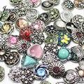 10 pçs/lote misturado snaps jóias 18-20mm Pulseiras snaps snaps botões fit snaps jóias jóias GS1208135-MIX Jayna