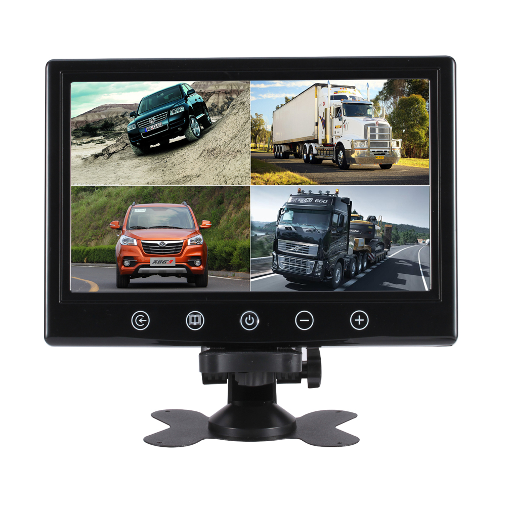 9.2 Inch QUAD Display screen CCTV TFT-LED Monitor with Metal Shell & 4BNC/VGA for PC & Multimedia & Donitor Display & Microscope