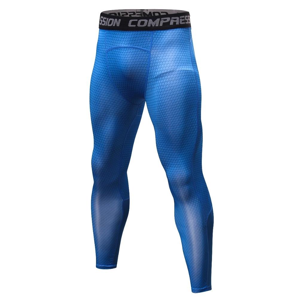 Men Athletic Gym Compression Skin Legging Pants Base Layer Jogging Slim Trousers