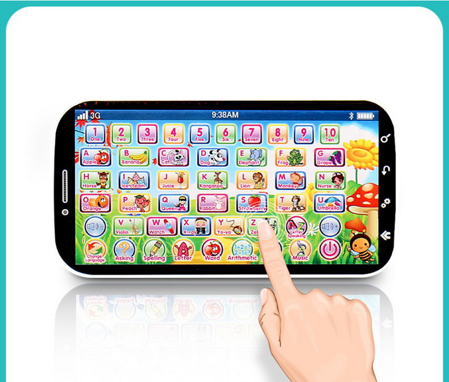 DHL 200pcs english language learning machine multifunction toy phone,ABC letter word number musical phone kid educational toy