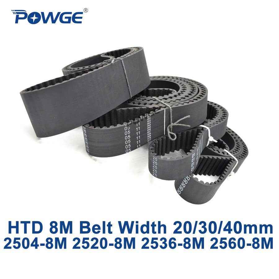 купить POWGE HTD 8M synchronous Timing belt C=2504/2520/2536/2560 width 20/30/40mm Teeth 313 315 317 320 HTD8M 2504-8M 2520-8M 2560-8M по цене 2379.23 рублей