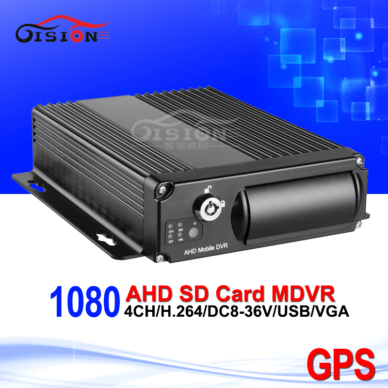 GPS SD 1080 AHD Mobile Dvr Dual SD Card Slot 4CH Video Recorder Playback Motion Detection G-sensor I/O Blackbox HD Car Dvr Mdvr free shipping i o g sensor h 264 2tb hdd 4ch vehicle 720p ahd car dvr video recorder mdvr video playback for taxi bus truck van