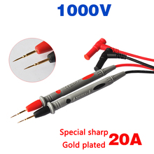 Multimeter Needle Pen 1 Pair 1000V 20A Silica Gel Pens And Gold-plated Special Sharp Copper For Digital