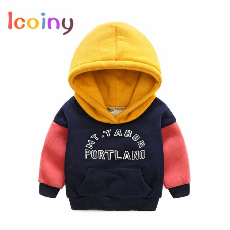 0e71667b4 Hit Color Girls Hoodies 2018 Brand Long Sleeve Hooded Cotton Kids ...