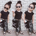 3PCS short+pants+shoes Baby Kids Short Sleeve T-shirt Tops Baggy Harem Pants Sets boy and girl clothing suits