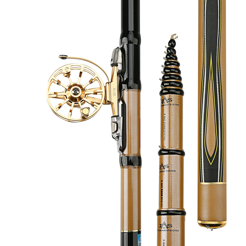 High Quality Front-end Fishing Rod Ultra Light High Carbon Hard Taiwan Fishing Rod Portable Telescopic Rod with Alloy Reel telescopic fishing rod with reel portable carbon fishing rod and 13bb spinning fishing reel high quality fishing rod kit