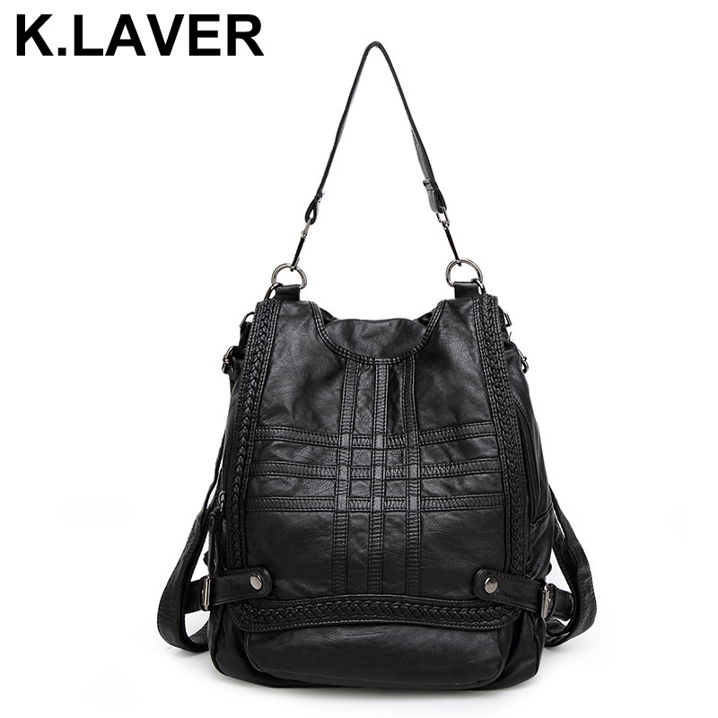 Genuine Leather Women Sheepskin Backpacks Teenage Girls Shoulder Bag Female Travel School Bags Ladies Backpack Mochila Bookbag new arrival black genuine leather women backpack for teenage girls school bag fashion travel ladies shoulder bags bolsas mochila