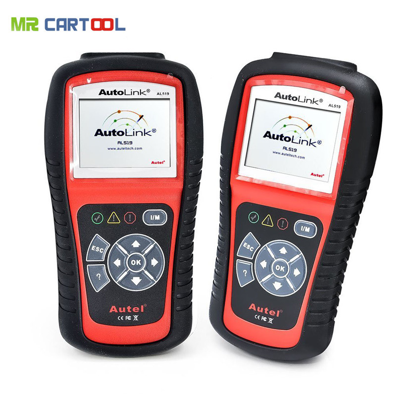 Original Autel AutoLink AL519 OBD-II and CAN Scanner Tool Multi-Languages DHL Free Shipping free shipping original autel autolink al519 obd ii and can scanner tool obd2 code scanner