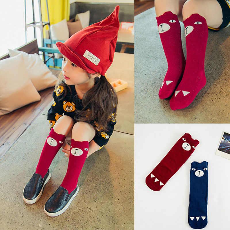 Hoge Kwaliteit Mooie 3D Vos Baby Sok Beenwarmers Kids Sokken Jongens Meisjes Sokken Anti slip Katoen Mode Dier Meisje knie Hoge Sok