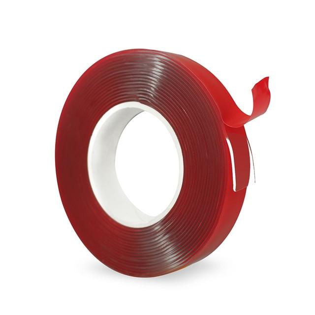 3 M Vermelho Dupla Face Fita Adesiva Transparente Etiqueta Para Seat Leon 1 2 3 MK3 + FR Cupra Ibiza 6J 6L Fórmula Altea Exeo Alhambra