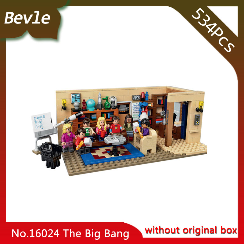 2017 New  LEPIN 16024 534Pcs Moive Series The Big Bang Theory Model Building Blocks Set Bricks Toy with Children Toys Gift 2017 firs t aid training medical models cpr adult obstruction model