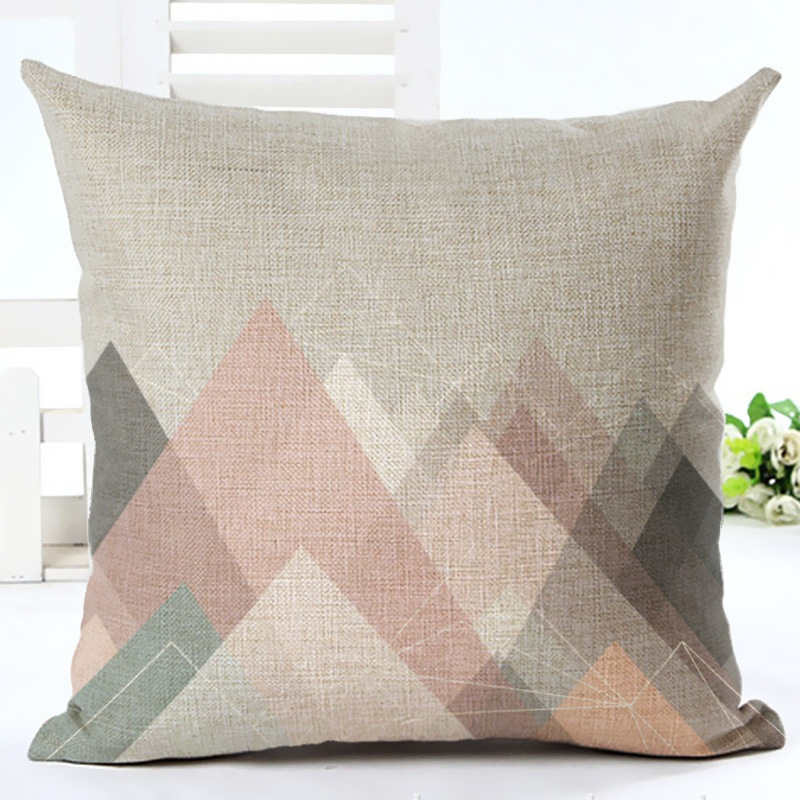 Creative Cute Couple Pillowcase Cushion Cover Pillow Case To Decorative Car Seat Sofa Geometry Pattern Throw Pillows Cover F