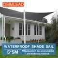 Osimlead transporte livre 5*5 m sol impermeável sombra vela dossel quadrado tampa-pátio ao ar livre awning-16.5 '* 16.5'