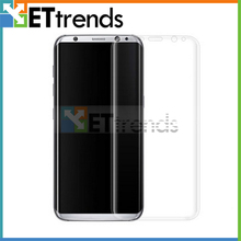 20PCS/LOT Top Quality Screen Protector For Samsung S8 Full Printed Tempered Glass Screen Protector Protective Film DHL Free Ship