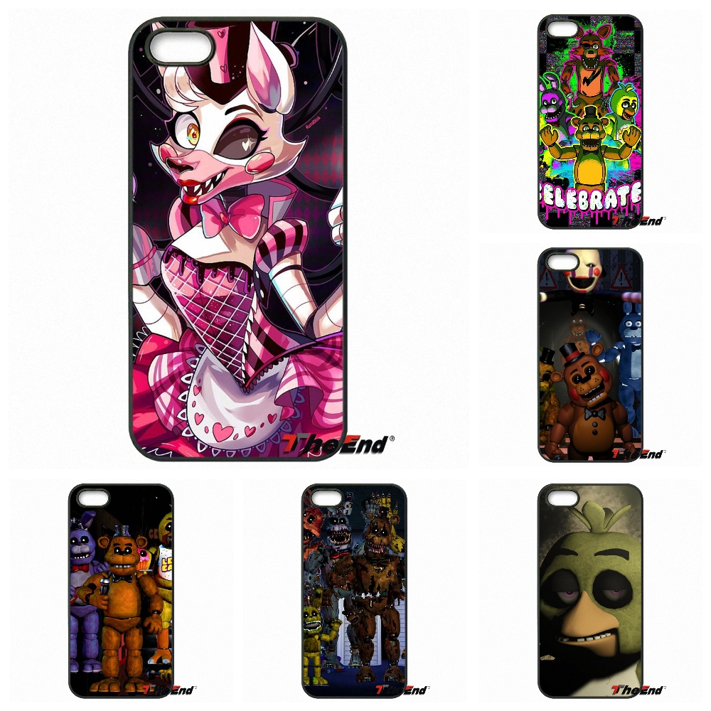 Cute Five Nights At Freddy Fnaf Cell Phone Coque Case For IPhone 4 4S 5 5C SE 6 6S 7 Plus Galaxy