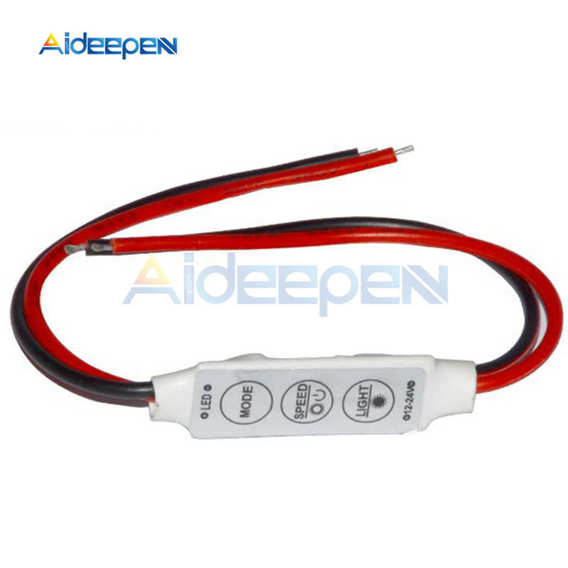 1 piezas DC 12 V Mini 3 Llaves Controlador LED de Color único brillo Dimmer para 3528 LED 5050 de 5630 de luz