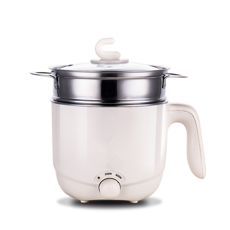 110V 220V Electric Household Multifunctional Cooking Machine With Steamer Mini 1.5L Hot Pot Multi Cooker EU/AU/UK/US Plug 1 2l mini portable rice cooker auto multifunction cooking pot heating soup porridge steamer student noodles cooking machine