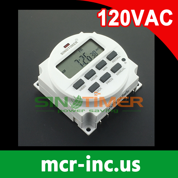 BIG LCD 1.598 inch display 110V 120V AC 7 Days Programmable Digital Timer Switch Time Relay with UL listed relay inside 2 channel 7 days programmable digital time switch 220v timer relay control din rail mount free shipping