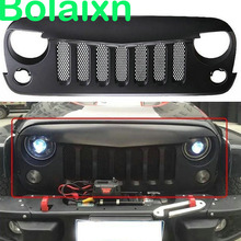 Grille-Grill-Replacement Angry Birds Jeep Wrangler Exterior Front Mesh Face ABS for JK