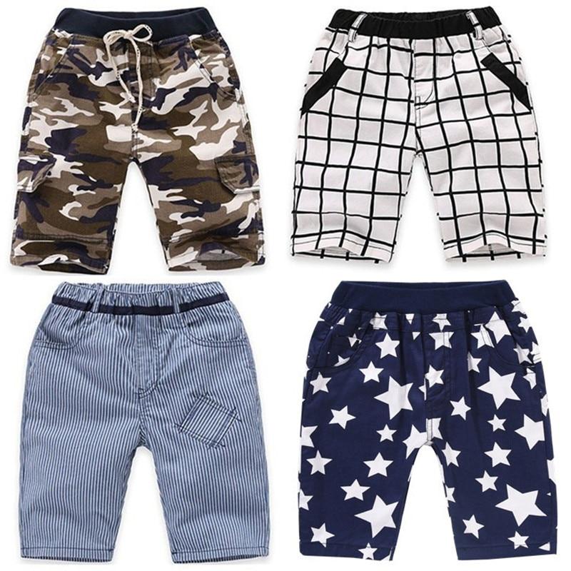 Vidmid meninos shorts calças xadrez bebê meninos shorts de algodão verão crianças camuflagem menino calções casuais roupas 4074