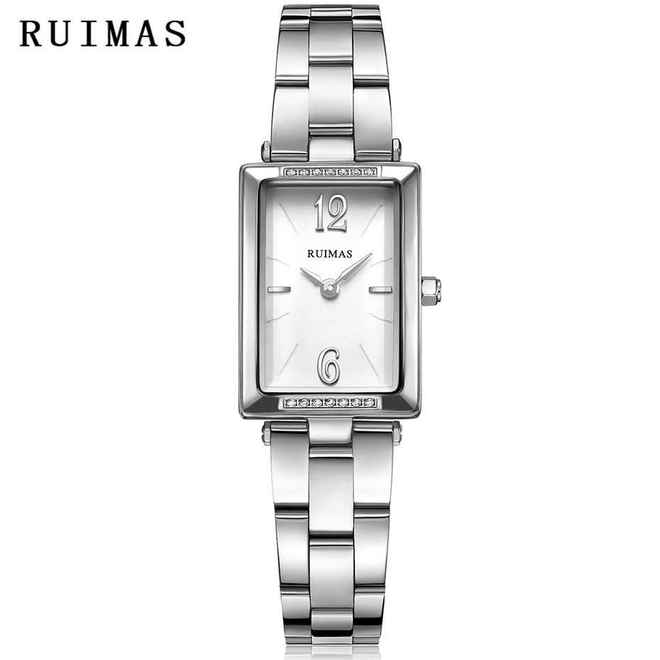 6dfce853baf Γυναικεία ρολόγια χαλαζία ρολόγια χειρός RUIMAS Απλά μόδα ορθογώνια ...