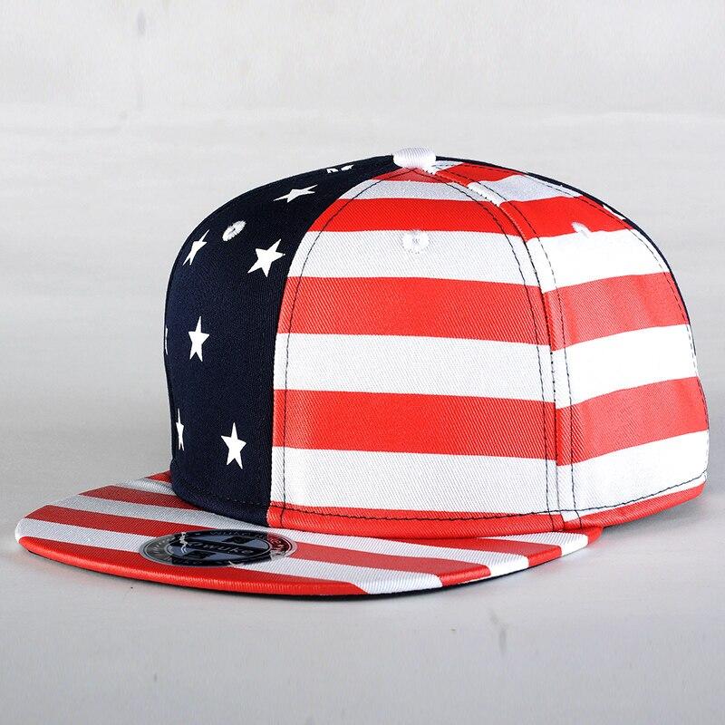 WUKE  USA Flag Snapback Caps c5aecd0f806