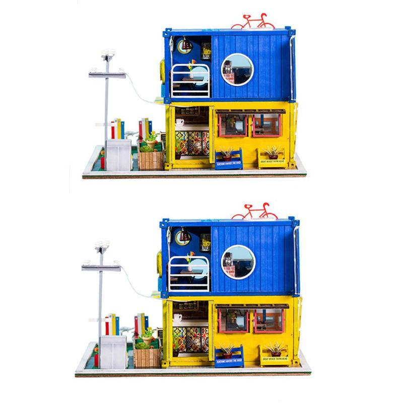 Children Adult DIY Doll Houses Model Creative Container Dollhouse Model Wooden Toy Miniature Building Kits for Brithday GiftChildren Adult DIY Doll Houses Model Creative Container Dollhouse Model Wooden Toy Miniature Building Kits for Brithday Gift