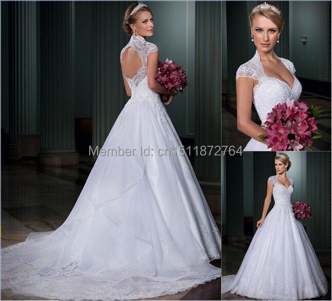 Online Shop Wedding dress 2014 Custom Made Princess style Cap Sleeve ...