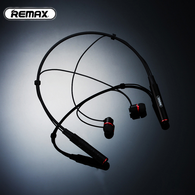 Remax RB-S6 Neck Hanging Wireless Bluetooth Sports Earphones Bass Stereo Music Earphones With MIC Multi Connect For IOS Android remax rb s7 headphone magnetic neckband bluetooth v4 1 wireless hd stereo sports earphone music headphone with mic multi connect
