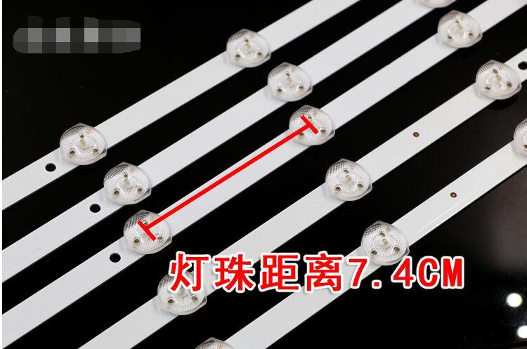 10 шт. x 39 /40 дюймов оригинальный тонкий Светодиодные ленты w/оптический фильтр для объектива ТВ Панель Подсветка Лампы для мотоциклов 70 см ...