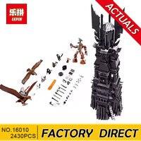 Lepin 16010 2430Pcs Lord Of The Rings The Tower Of Orthanc Model Building Kits Blocks Bricks