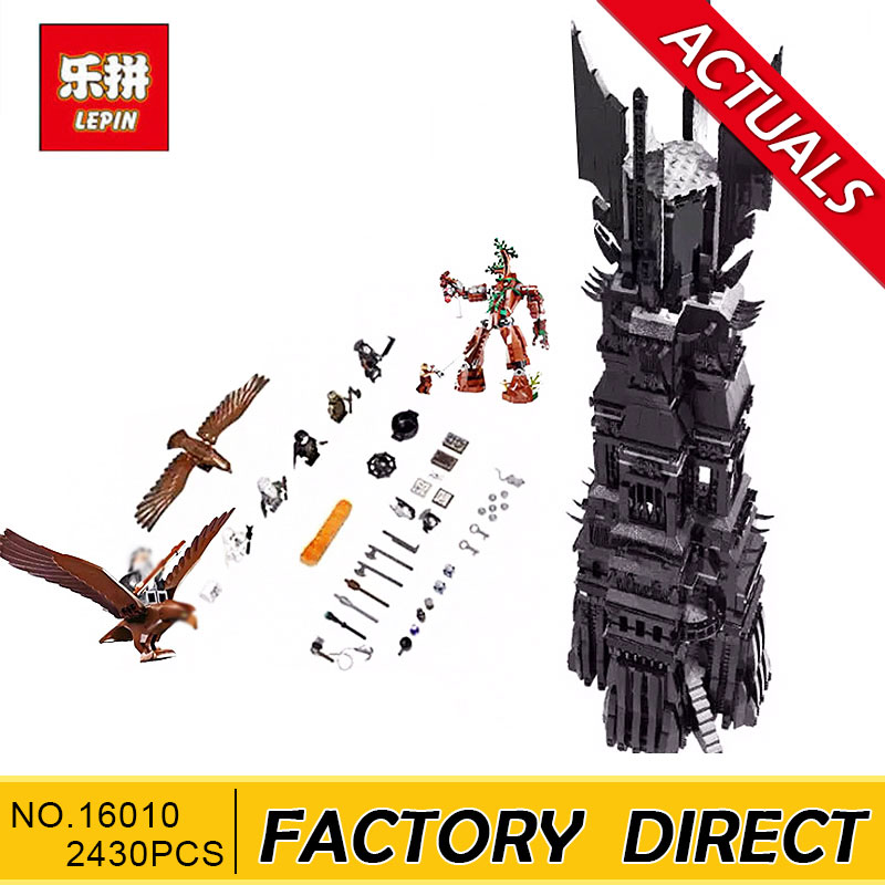 Lepin 16010 2430Pcs Lord of the Rings The Tower of Orthanc Model Building Kits Blocks Bricks Toys Gift 10237