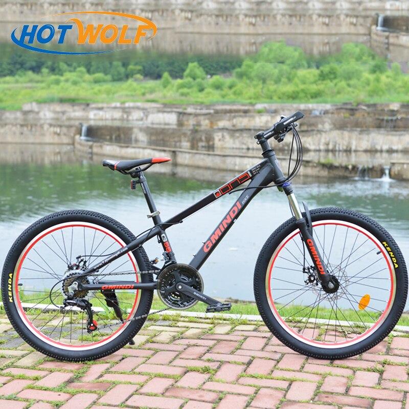 Vtt châssis en alliage d'aluminium de haute qualité femmes 21 vitesse vélo, Jubilé transmission, mâle et femelle étudiants 24*1.95