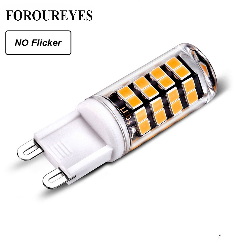 No Flicker G9 LED Lamp AC85-265V 5W SMD2835 LED Spotlight High Lumen PC Ceramics Bulb Replace 40W Halogen Light For Chandelier