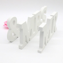 (Big size) 1 Set MR & MRS  Wedding Wooden Letters Decoration Sign Top Table Present Decoration Wedding Supplies Gift Home Decor