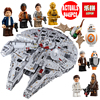Lepin 05132 Star Wars Star Destroyer Millennium Falcon Compatible With LegoINGlys 75192 Starwars Bricks Model Building