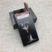 LF015 Personalized Aluminium Alloy Cigarette Case Laser Carved King Wolf Will Not Fade Boxes Portable Smoking