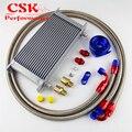 AN8 19 ряд 248 мм Универсальный Масляный радиатор передачи двигателя БРИТАНСКИЙ ТИП + алюминиевый фильтр шланга комплект черный/синий
