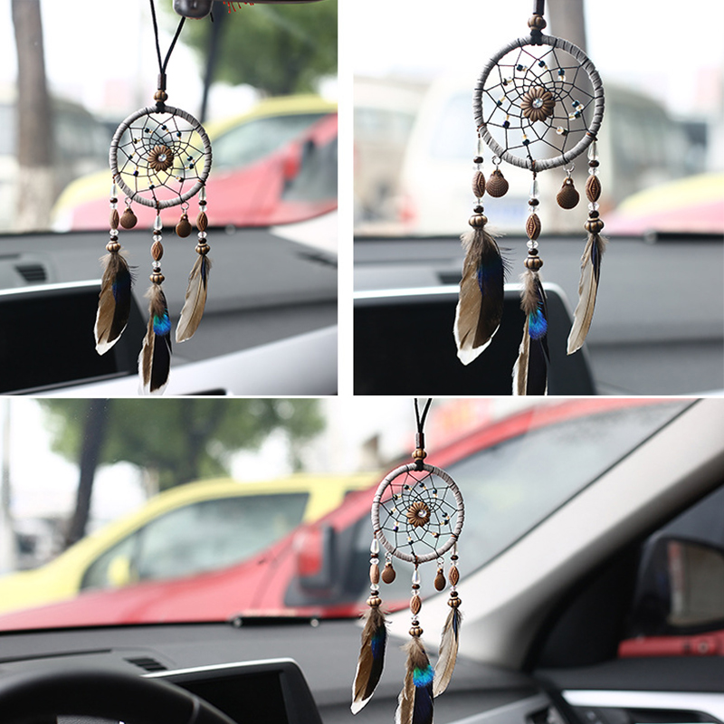 Car Pendant Ornaments Mini Handmade Dream Catcher Hanging Decoration