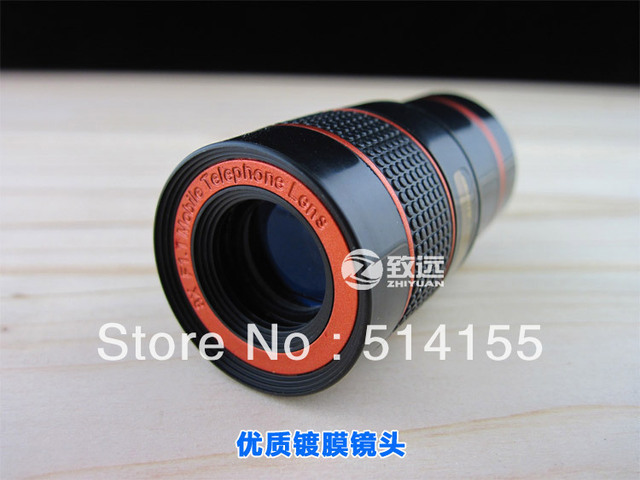 Universal 8X Zoom Telescope Telephoto Camera Lens for Mobile Phone iPhone 4S 5 5S 5C 6 Plus Samsung S6 S5 S4 S3 Galaxy Note 2 3