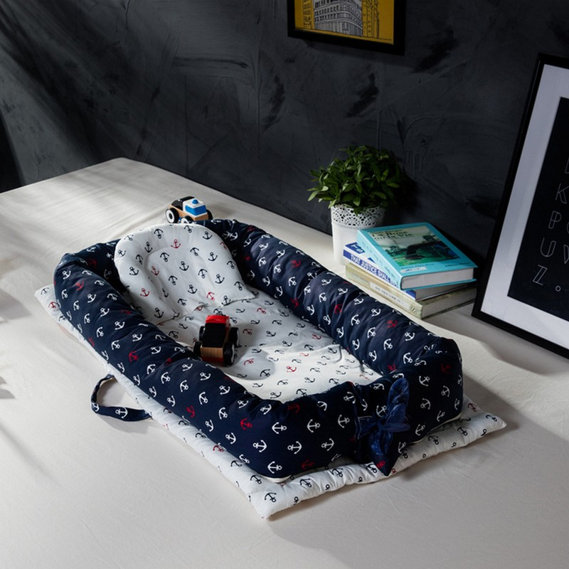 все цены на 0-24M baby portable nest bed Portable Crib For Newborns Baby Bedding Foldable Travel Bed For Infant with Bumper Bionic Cot Mat