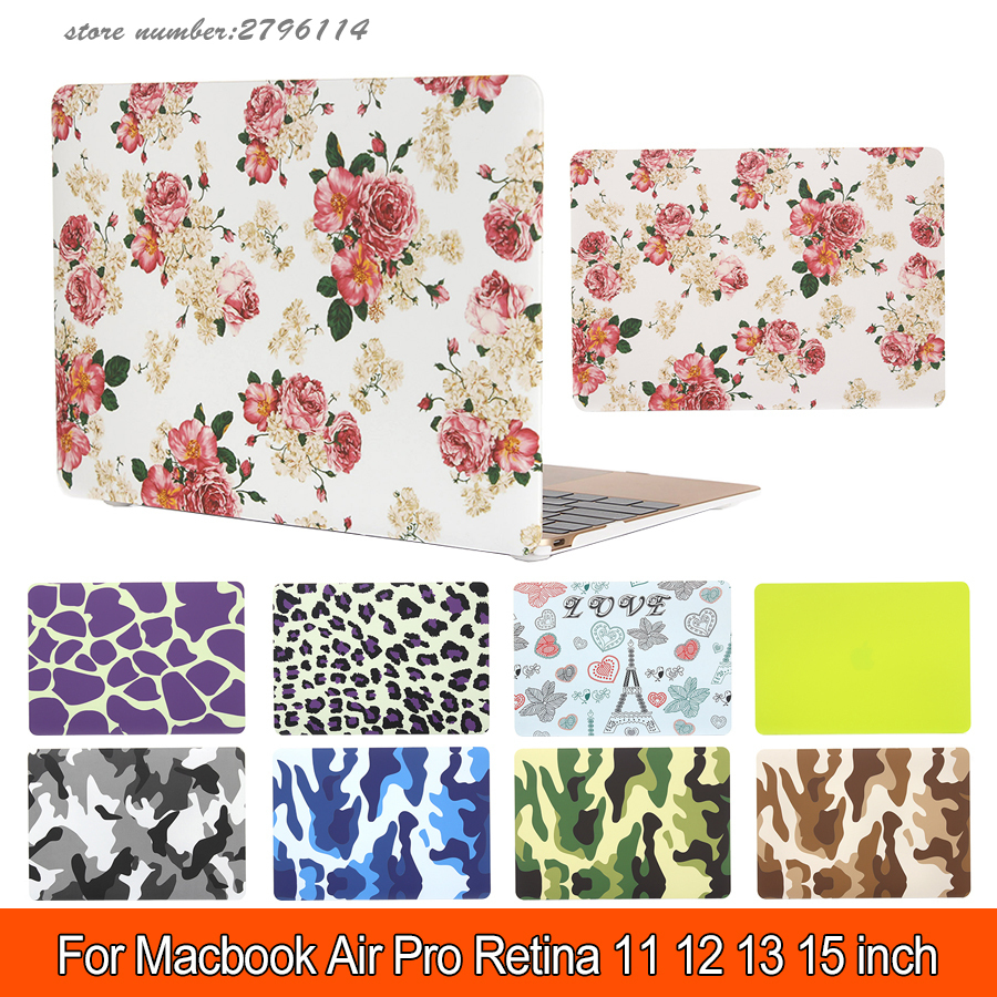 Flower Matte Hard Protector Case for Macbook air 11/ 13 inch,cover for Macbook Pro 13 /15 inch for Macbook Pro Retina 12 13/15