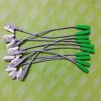 4.0MM Female banana ECG/EKG/EEG/EMG electrodes adapter cable,4.0 Banana connector shift to clip test leadwire,10pcs/bag.