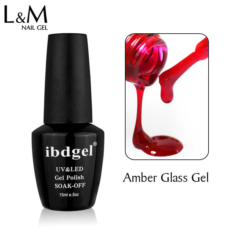 Ibdgel שחור בקבוק 1 Pc אמבר זכוכית סדרת ג 'ל נייל culorful פולני הכי חדש חבילה משרים כבוי UV LED מנורת ג' ל נייל ארוך lasing