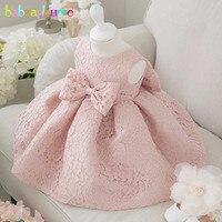 Babzapleume Korean Summer Baby Girls Party Dresses Wedding Lace Bow 1st Birthday Infant Princess Dress Children
